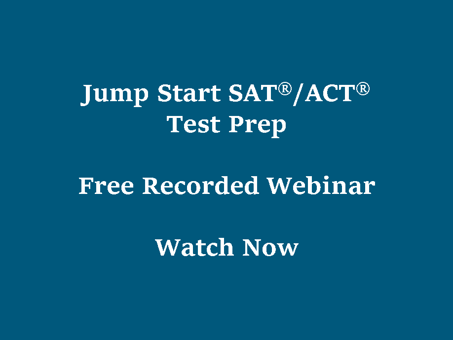 Jump Start SAT/ACT Test Prep, Free Webinar
